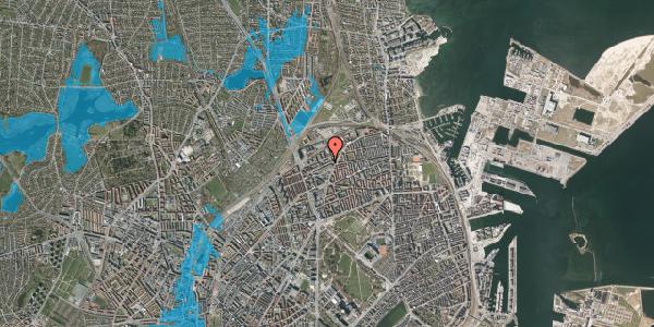Oversvømmelsesrisiko fra vandløb på Vognmandsmarken 34, 1. tv, 2100 København Ø