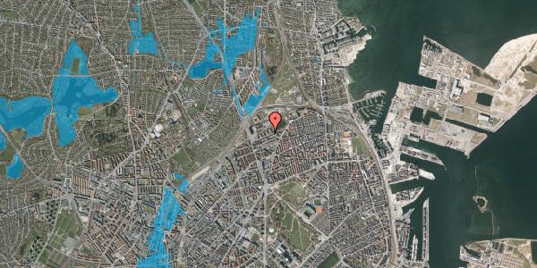 Oversvømmelsesrisiko fra vandløb på Vognmandsmarken 37, 1. tv, 2100 København Ø