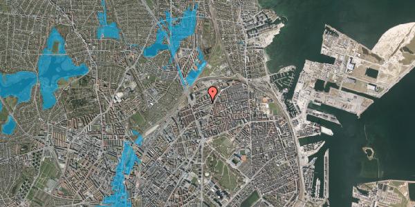 Oversvømmelsesrisiko fra vandløb på Vognmandsmarken 38, 3. th, 2100 København Ø
