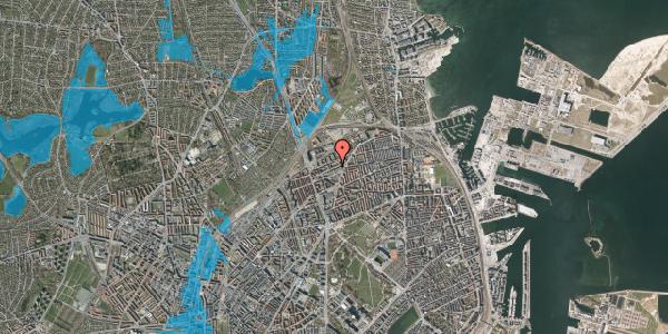 Oversvømmelsesrisiko fra vandløb på Vognmandsmarken 40, 2. th, 2100 København Ø