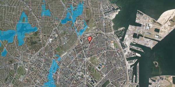 Oversvømmelsesrisiko fra vandløb på Vognmandsmarken 40, 3. th, 2100 København Ø