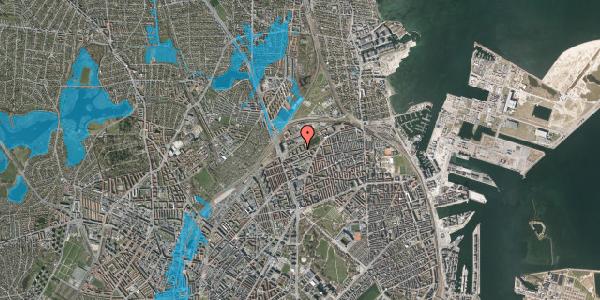 Oversvømmelsesrisiko fra vandløb på Vognmandsmarken 41, 3. tv, 2100 København Ø