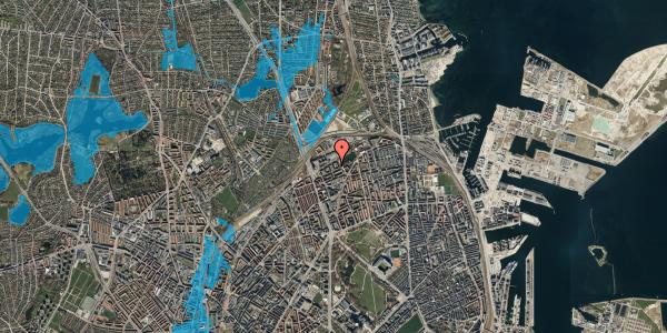 Oversvømmelsesrisiko fra vandløb på Vognmandsmarken 41, 4. th, 2100 København Ø