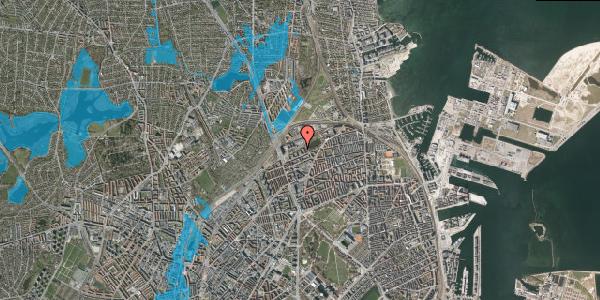 Oversvømmelsesrisiko fra vandløb på Vognmandsmarken 45, 1. th, 2100 København Ø