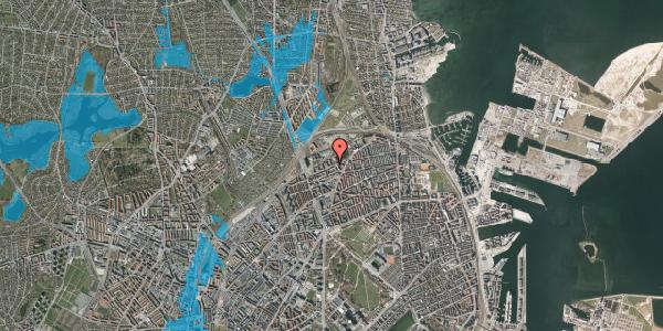 Oversvømmelsesrisiko fra vandløb på Vognmandsmarken 49, st. th, 2100 København Ø