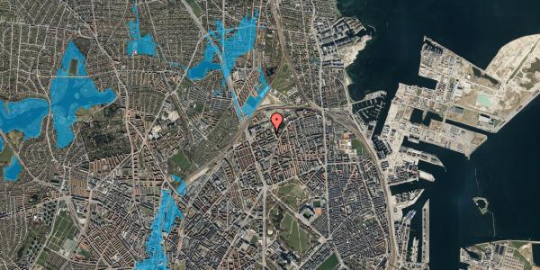 Oversvømmelsesrisiko fra vandløb på Vognmandsmarken 51, st. tv, 2100 København Ø
