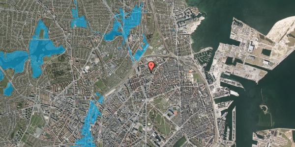 Oversvømmelsesrisiko fra vandløb på Vognmandsmarken 52, 1. th, 2100 København Ø