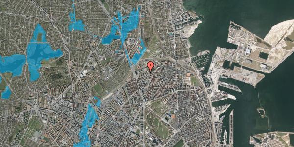 Oversvømmelsesrisiko fra vandløb på Vognmandsmarken 57, 1. tv, 2100 København Ø