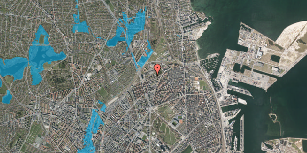 Oversvømmelsesrisiko fra vandløb på Vognmandsmarken 59, 3. th, 2100 København Ø
