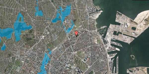 Oversvømmelsesrisiko fra vandløb på Vognmandsmarken 61, 1. tv, 2100 København Ø