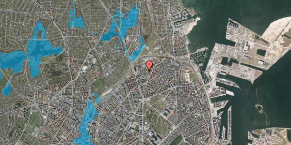 Oversvømmelsesrisiko fra vandløb på Vognmandsmarken 62, 4. th, 2100 København Ø