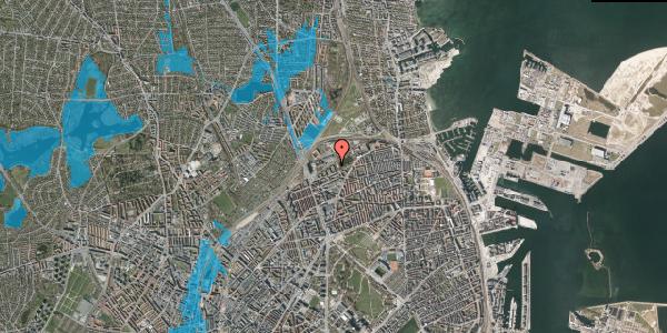 Oversvømmelsesrisiko fra vandløb på Vognmandsmarken 63, st. th, 2100 København Ø