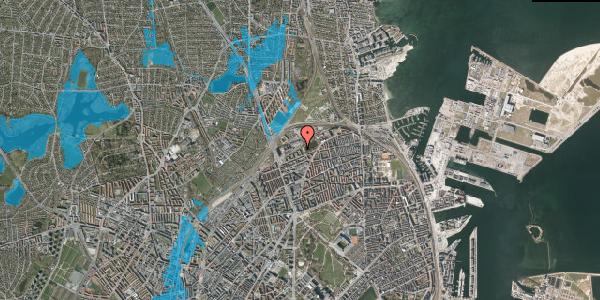 Oversvømmelsesrisiko fra vandløb på Vognmandsmarken 65, 2. tv, 2100 København Ø