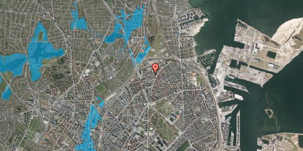Oversvømmelsesrisiko fra vandløb på Vognmandsmarken 66, 2. th, 2100 København Ø