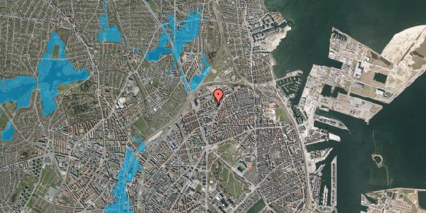 Oversvømmelsesrisiko fra vandløb på Vognmandsmarken 70, st. tv, 2100 København Ø
