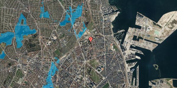 Oversvømmelsesrisiko fra vandløb på Vognmandsmarken 72, 3. th, 2100 København Ø