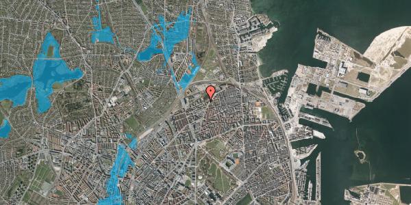 Oversvømmelsesrisiko fra vandløb på Vognmandsmarken 76, 3. tv, 2100 København Ø