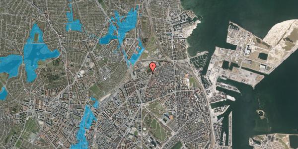 Oversvømmelsesrisiko fra vandløb på Vognmandsmarken 78, st. tv, 2100 København Ø