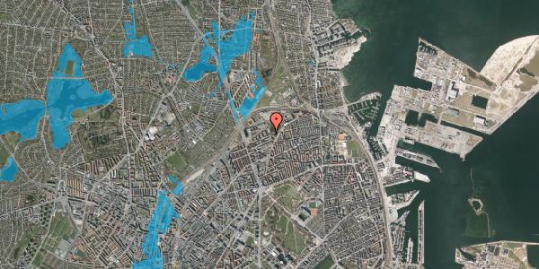 Oversvømmelsesrisiko fra vandløb på Vognmandsmarken 85, 2100 København Ø