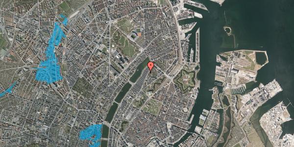 Oversvømmelsesrisiko fra vandløb på Voldmestergade 4, 2100 København Ø