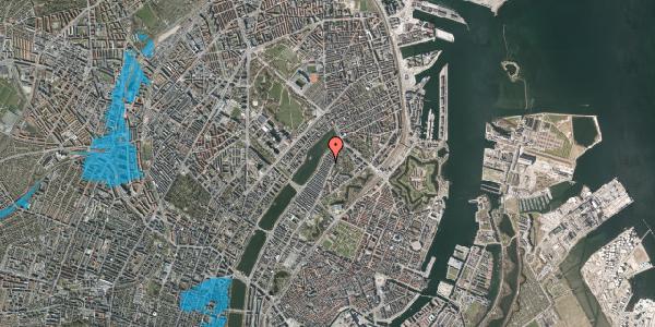 Oversvømmelsesrisiko fra vandløb på Voldmestergade 18, 2100 København Ø