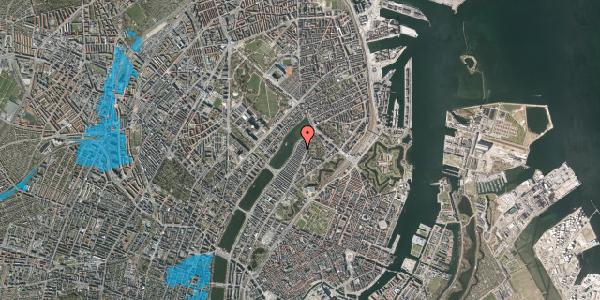 Oversvømmelsesrisiko fra vandløb på Voldmestergade 23, 2100 København Ø