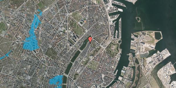 Oversvømmelsesrisiko fra vandløb på Voldmestergade 34, 2100 København Ø