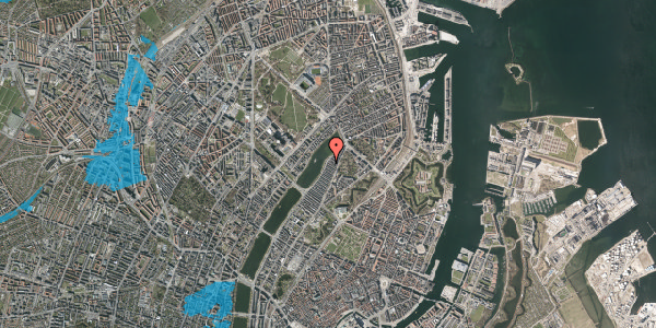 Oversvømmelsesrisiko fra vandløb på Voldmestergade 36, st. , 2100 København Ø