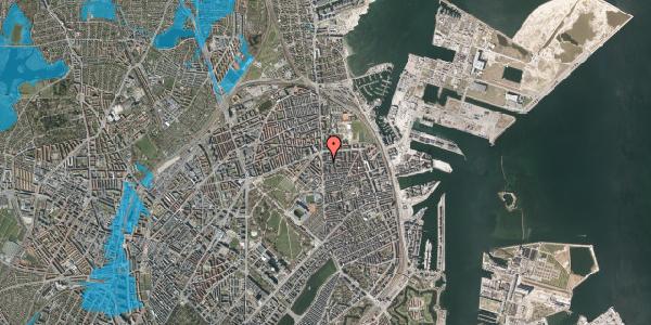 Oversvømmelsesrisiko fra vandløb på Vordingborggade 3, st. tv, 2100 København Ø