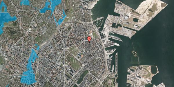 Oversvømmelsesrisiko fra vandløb på Vordingborggade 9, 1. th, 2100 København Ø