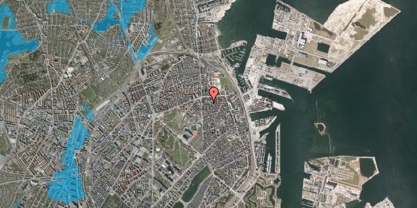 Oversvømmelsesrisiko fra vandløb på Vordingborggade 13, 2. th, 2100 København Ø