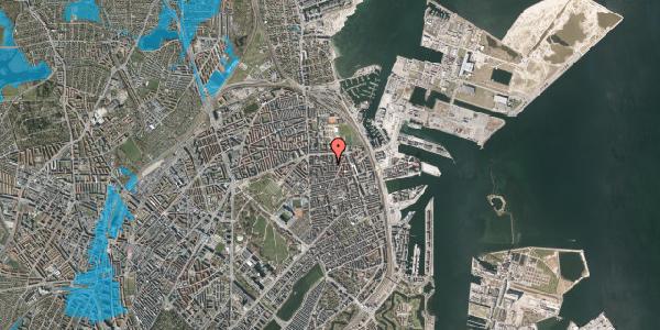 Oversvømmelsesrisiko fra vandløb på Vordingborggade 25, 3. th, 2100 København Ø