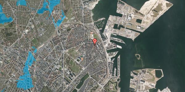 Oversvømmelsesrisiko fra vandløb på Vordingborggade 32, kl. , 2100 København Ø