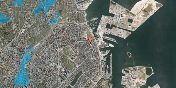 Oversvømmelsesrisiko fra vandløb på Vordingborggade 35, st. tv, 2100 København Ø