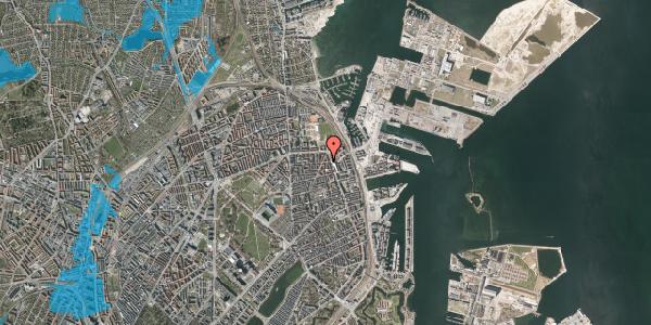 Oversvømmelsesrisiko fra vandløb på Vordingborggade 37, 5. , 2100 København Ø
