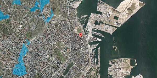 Oversvømmelsesrisiko fra vandløb på Vordingborggade 76, 2. tv, 2100 København Ø
