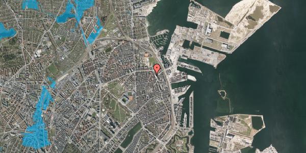 Oversvømmelsesrisiko fra vandløb på Vordingborggade 78, 1. tv, 2100 København Ø