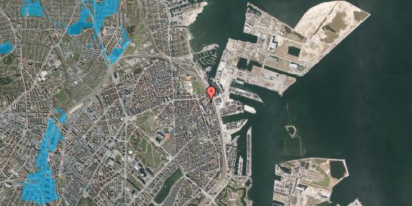 Oversvømmelsesrisiko fra vandløb på Vordingborggade 89, kl. th, 2100 København Ø
