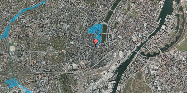 Oversvømmelsesrisiko fra vandløb på Værnedamsvej 4A, 4. tv, 1619 København V