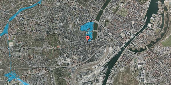 Oversvømmelsesrisiko fra vandløb på Værnedamsvej 4B, st. tv, 1619 København V