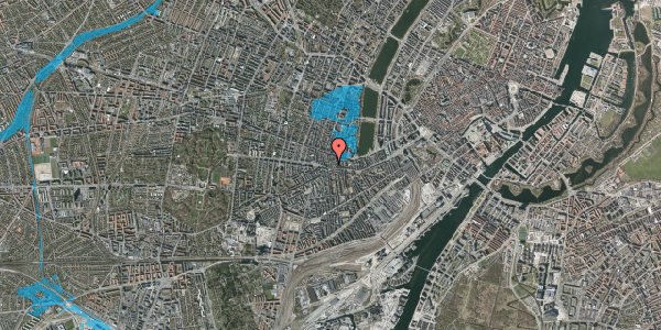 Oversvømmelsesrisiko fra vandløb på Værnedamsvej 4B, 4. tv, 1619 København V