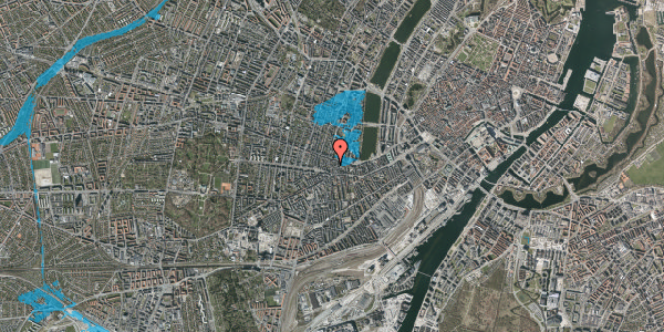 Oversvømmelsesrisiko fra vandløb på Værnedamsvej 10, 4. th, 1619 København V