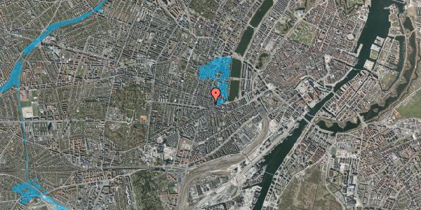 Oversvømmelsesrisiko fra vandløb på Værnedamsvej 10, 4. tv, 1619 København V