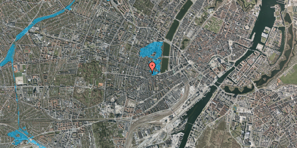 Oversvømmelsesrisiko fra vandløb på Værnedamsvej 14A, 3. th, 1619 København V