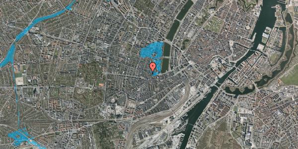 Oversvømmelsesrisiko fra vandløb på Værnedamsvej 14A, 4. tv, 1619 København V