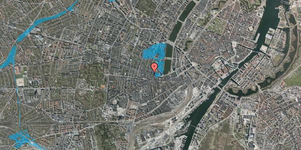 Oversvømmelsesrisiko fra vandløb på Værnedamsvej 18, 3. th, 1619 København V