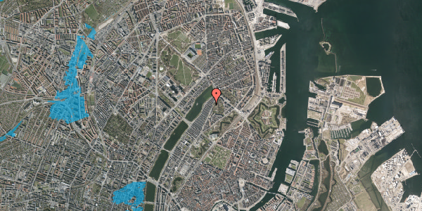 Oversvømmelsesrisiko fra vandløb på Zinnsgade 1, st. th, 2100 København Ø