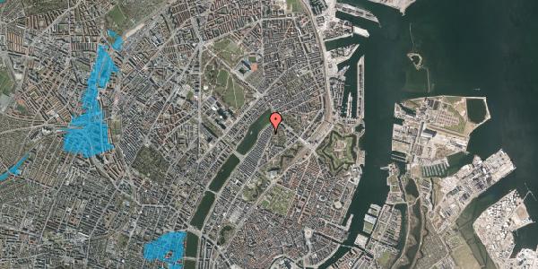 Oversvømmelsesrisiko fra vandløb på Zinnsgade 1, 2. tv, 2100 København Ø