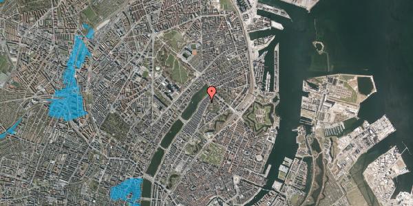 Oversvømmelsesrisiko fra vandløb på Zinnsgade 2, 2. tv, 2100 København Ø