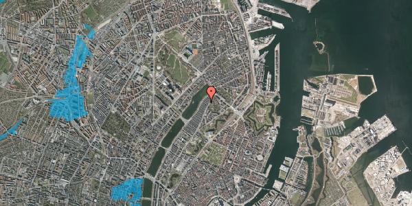 Oversvømmelsesrisiko fra vandløb på Zinnsgade 3, 2. th, 2100 København Ø